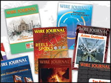 A collage of Wire Journal International covers through the years.